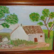 Arte: ANTIGUO CUADRO PINTADO AL ÓLEO SOBRE LIENZO. Lote 149435545