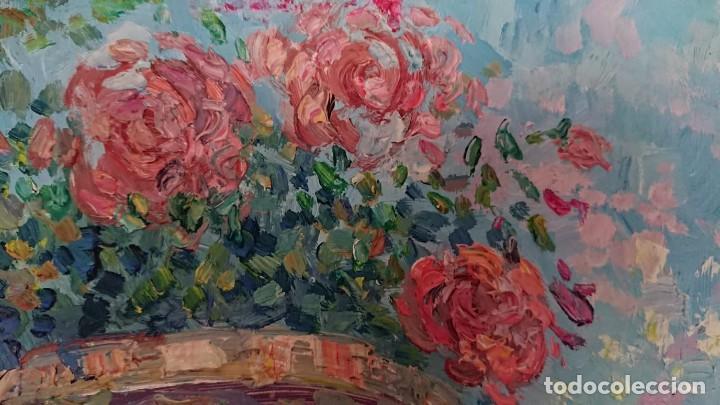 Arte: ÓLEO ESTILO IMPRESIONISTA SOBRE TABLA SERRANOS - Foto 9 - 149472446
