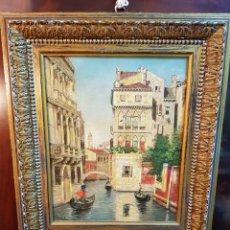 Arte: OLEO SOBRE LIENZO CANAL VENECIA. ENMARCADO 65 X 79. PERFECTO ESTADO. Lote 94948291