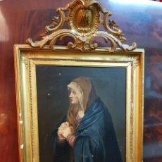 Arte: OLEO SOBRE LIENZO. FIRMADO ZAVALA 1873. ENMARCADO. RETRATO DEDICADO A SU HERMANA PILAR EN DORSO. Lote 149516686
