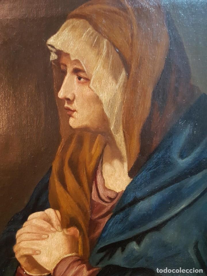 Arte: Oleo sobre lienzo. Firmado Zavala 1873. Enmarcado. Retrato dedicado a su hermana Pilar en dorso - Foto 6 - 149516686