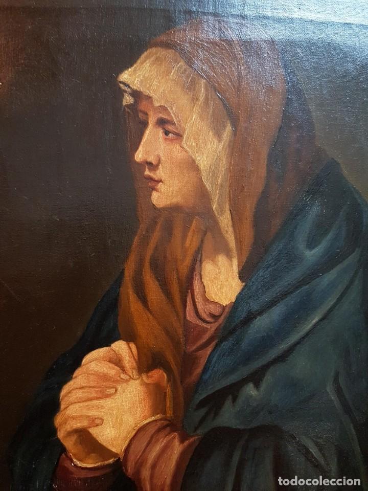 Arte: Oleo sobre lienzo. Firmado Zavala 1873. Enmarcado. Retrato dedicado a su hermana Pilar en dorso - Foto 7 - 149516686