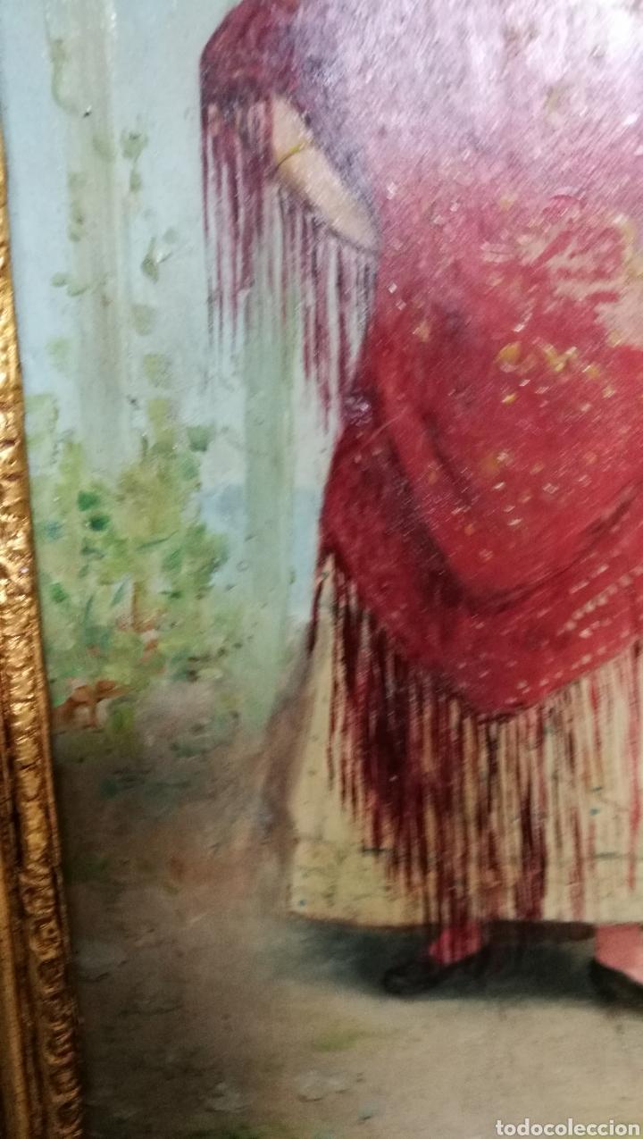 Arte: ANTIGUA PINTURA AL OLEO SOBRE TABLA MARCO DORADO - Foto 10 - 149519844