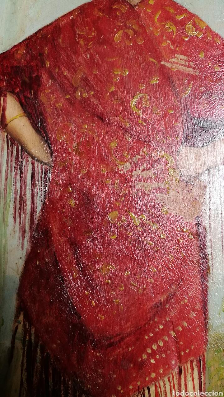 Arte: ANTIGUA PINTURA AL OLEO SOBRE TABLA MARCO DORADO - Foto 11 - 149519844