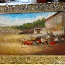 Arte: CUADRO ESTILO GOYESCO, CORRIDA DE TOROS. Lote 149559690