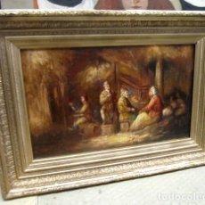 Arte: ESCENA COSTUMBRISTA, OLEO SOBRE TABLA. Lote 149559994