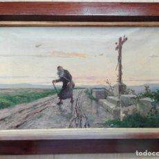 Arte: LEON COMMELERAN (PERPIGNAN, 1830) - ÓLEO SOBRE LIENZO ENMARCADO 82 X 57. Lote 149586674