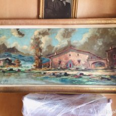Arte: ENORME Y PRECIOSO DE ÓLEO ANTIGUO FIRMADO M. PONS. Lote 149592858