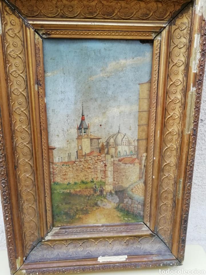 Arte: Pareja de tablas pintadas al óleo - Foto 2 - 149596344