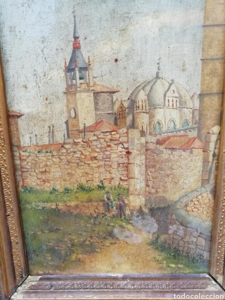 Arte: Pareja de tablas pintadas al óleo - Foto 3 - 149596344