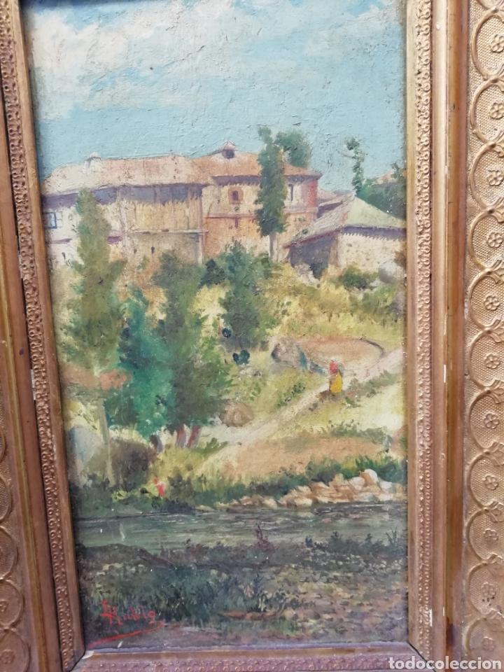 Arte: Pareja de tablas pintadas al óleo - Foto 6 - 149596344