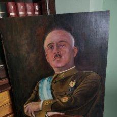 Arte: RETRATO PINTADO AL OLEO DE FRANCISCO FRANCO, FIRMADO Y FECHADO EN VALENCIA, 1940, MEDIDAS 39X30CM. Lote 149606178