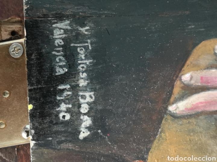 Arte: Retrato pintado al oleo de Francisco Franco, firmado y fechado en Valencia, 1940, medidas 39x30cm - Foto 5 - 149606178