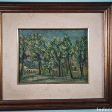 Arte: OLEO SOBRE TABLA, PAISAJE ALICANTINO ATRIBUIDO A MELCHOR ARACIL. FIRMADO. 31X27CM. Lote 149620665