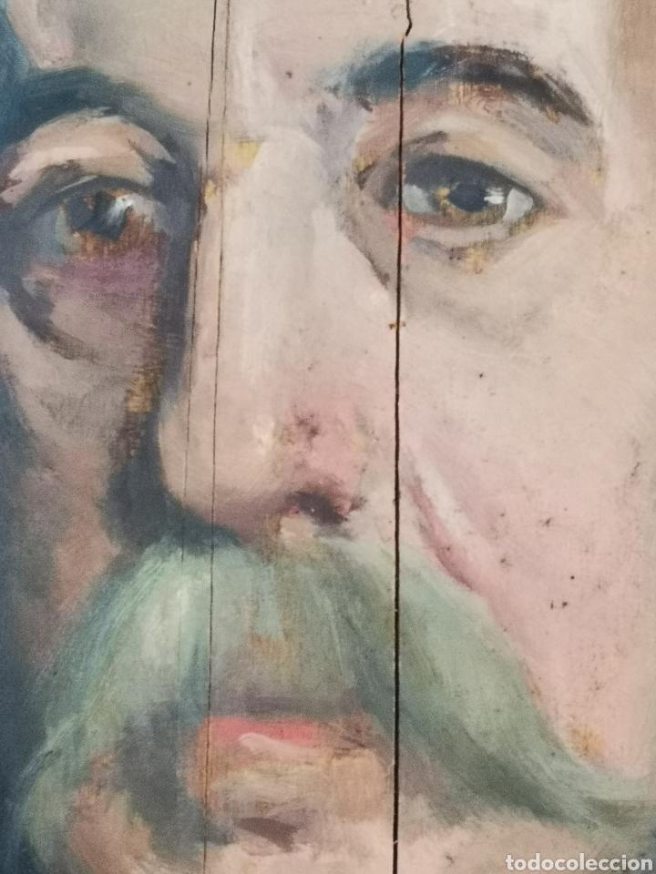 Arte: GUILLEN PEDEMONTI, HELIODORO, 1864-1940, Alicante, oleo sobre tabla, retrato. 36x26 - Foto 3 - 149641261