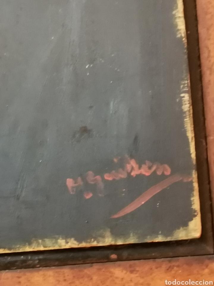 Arte: GUILLEN PEDEMONTI, HELIODORO, 1864-1940, Alicante, oleo sobre tabla, retrato. 36x26 - Foto 5 - 149641261