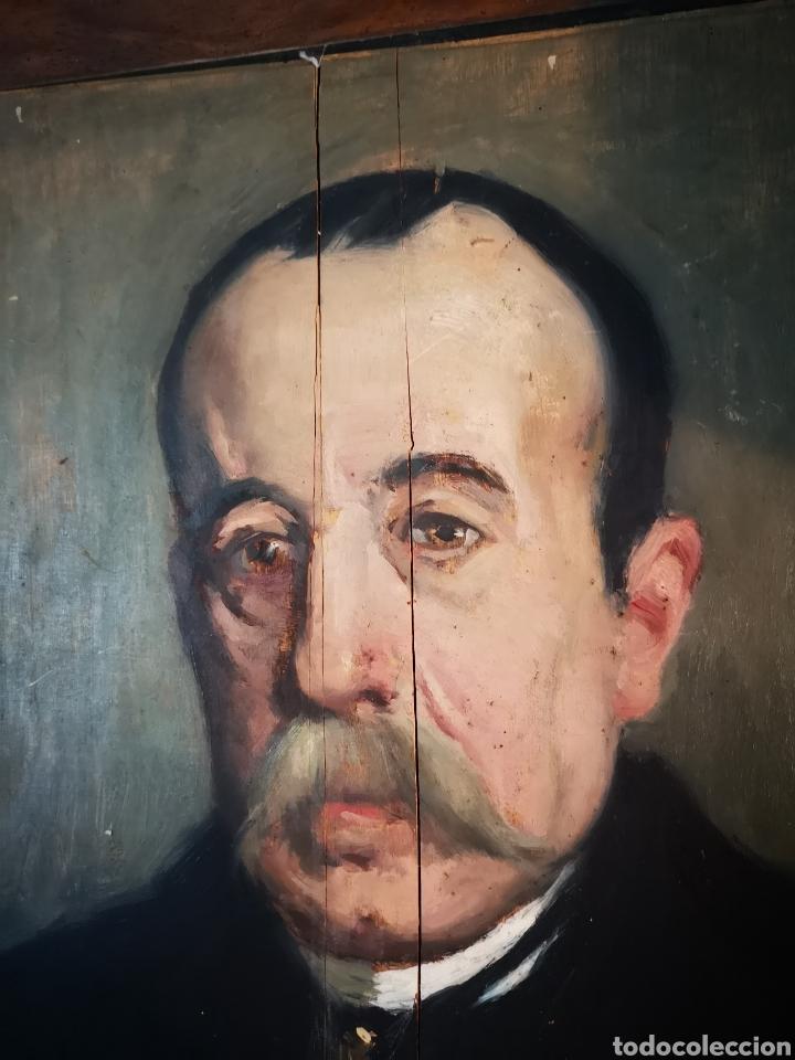Arte: GUILLEN PEDEMONTI, HELIODORO, 1864-1940, Alicante, oleo sobre tabla, retrato. 36x26 - Foto 7 - 149641261