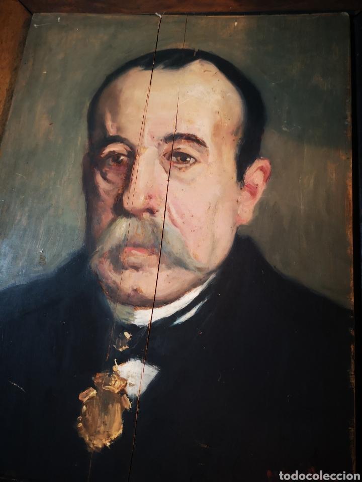 Arte: GUILLEN PEDEMONTI, HELIODORO, 1864-1940, Alicante, oleo sobre tabla, retrato. 36x26 - Foto 8 - 149641261
