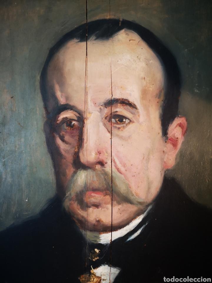Arte: GUILLEN PEDEMONTI, HELIODORO, 1864-1940, Alicante, oleo sobre tabla, retrato. 36x26 - Foto 10 - 149641261