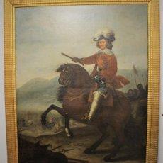 Arte: GRAN RETRATO ECUESTRE DEL CARDENAL INFANTE DON FERNANDO DE AUSTRIA EN NÖRDLINGEN , SIGLO XVIII. Lote 149650182