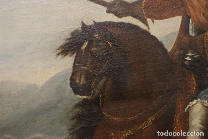 Arte: Gran retrato ecuestre del Cardenal Infante don Fernando de Austria en Nördlingen , siglo XVIII - Foto 3 - 149650182