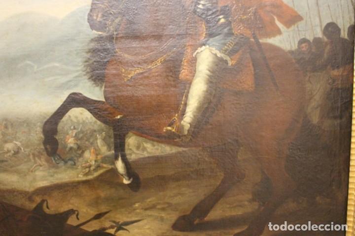 Arte: Gran retrato ecuestre del Cardenal Infante don Fernando de Austria en Nördlingen , siglo XVIII - Foto 10 - 149650182