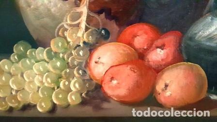 Arte: ANTIGUO BODEGON MIXTO FLORAL AL OLEO SOBRE TELA FIRMADO - - Foto 7 - 149656838