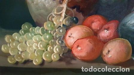 Arte: ANTIGUO BODEGON MIXTO FLORAL AL OLEO SOBRE TELA FIRMADO - - Foto 8 - 149656838