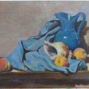 Arte: BODEGÓN Y CARACOLA. CUADRO AL ÓLEO DE SOLEDAD GÓMEZ. SIN MARCO. MEDIDAS 59 X 48.. Lote 149673734