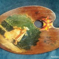 Arte: OLEO SOBRE TABLA DE LUIS MENENDEZ PIDAL. Lote 147643974