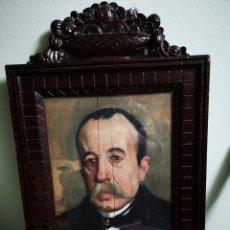 Arte: GUILLEN PEDEMONTI, HELIODORO, 1864-1940, ALICANTE, OLEO SOBRE TABLA, RETRATO. 36X26. Lote 149641261