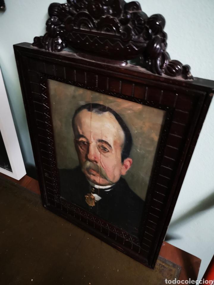 Arte: GUILLEN PEDEMONTI, HELIODORO, 1864-1940, Alicante, oleo sobre tabla, retrato. 36x26 - Foto 2 - 149641261