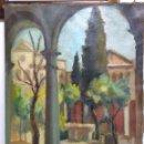 Arte: PATIO ITALIANO. ÓLEO SOBRE LIENZO DE SOLEDAD GÓMEZ. AÑOS 50. PEQUEÑAS ROTURAS EN LIENZO REPARABLES.. Lote 149763010
