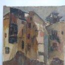 Arte: CASAS EN RUINAS EN EL BARRIO DEL CARMEN DE VALENCIA. PINTURA AL ÓLEO DE SOLEDAD GÓMEZ. 54,5 X 65,50. Lote 149764210