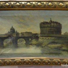Arte: PINTURA AL OLEO SOBRE LIENZO DE J. WIRTH- ELISEO MEIFRÉN ROIG, (1859-1940)- ROMA.. Lote 149818358