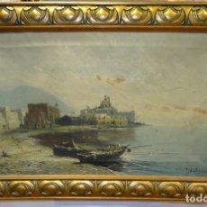 Arte: PINTURA AL OLEO SOBRE LIENZO DE J. WIRTH- ELISEO MEIFRÉN ROIG, (1859-1940)- NÁPOLES. . Lote 149822550