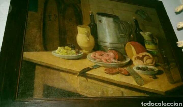 PRECIOSO BODEGON PINTADO AL ÓLEO SOBRE LIENZO S. XIX (Arte - Pintura - Pintura al Óleo Antigua siglo XVIII)