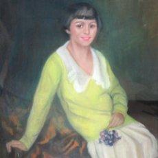 Arte: MARIA MUNTADAS DE CAPARÁ (BARCELONA, 1890 - 1965) TECNICA MIXTA SOBRE TELA FECHADO DE AÑO 1927. Lote 149840266