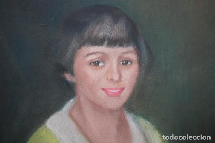 Arte: MARIA MUNTADAS DE CAPARÁ (Barcelona, 1890 - 1965) TECNICA MIXTA SOBRE TELA FECHADO DE AÑO 1927 - Foto 6 - 149840266