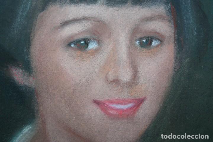 Arte: MARIA MUNTADAS DE CAPARÁ (Barcelona, 1890 - 1965) TECNICA MIXTA SOBRE TELA FECHADO DE AÑO 1927 - Foto 7 - 149840266