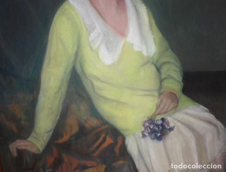 Arte: MARIA MUNTADAS DE CAPARÁ (Barcelona, 1890 - 1965) TECNICA MIXTA SOBRE TELA FECHADO DE AÑO 1927 - Foto 8 - 149840266