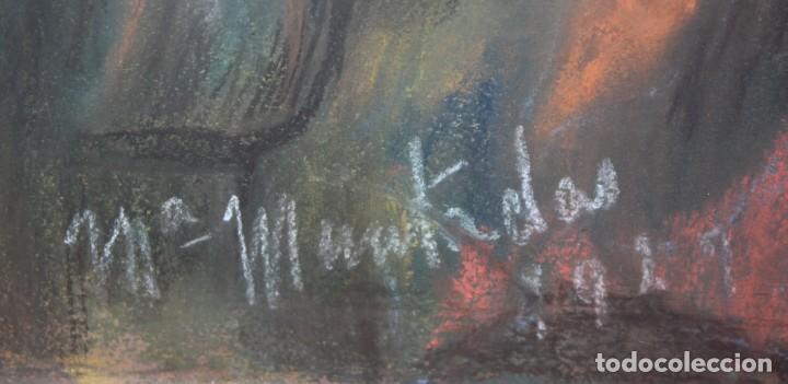 Arte: MARIA MUNTADAS DE CAPARÁ (Barcelona, 1890 - 1965) TECNICA MIXTA SOBRE TELA FECHADO DE AÑO 1927 - Foto 10 - 149840266