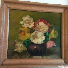 Arte: CUADRO FLORES - FIRMA HILLEN 21/2/1949. Lote 149959646
