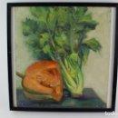 Arte: C-801. OLEO SOBRE TABLA .BODEGON FIRMADO POR J. MARTINEZ LOZANO.1926-2006.. Lote 149970054