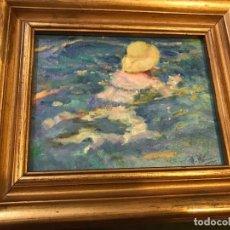 Arte: NIÑO NADANDO, IMPRESIONISTA. Lote 150007998