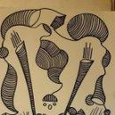Arte: ABSTRACTO CARTULINA ( SIN MARCO ) SANTA) N0006/. Lote 150125766