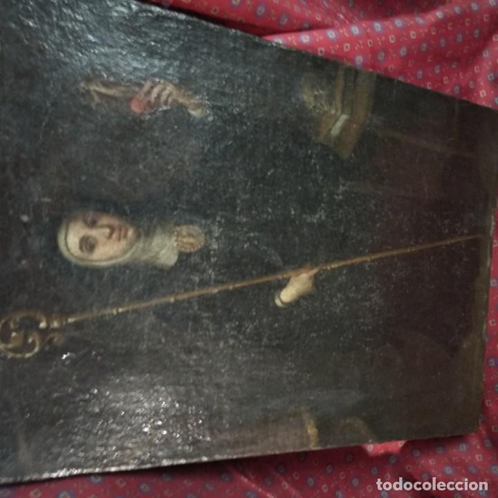 OLIÓ DE ESCUELA ESPAÑOLA O COLONIAL (Arte - Pintura - Pintura al Óleo Antigua siglo XVII)