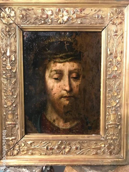 ECCE HOMO, COBRE FLAMENCO, S. XVI (Arte - Pintura - Pintura al Óleo Antigua siglo XVI)