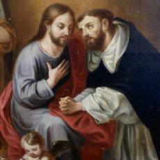 Arte: ÓLEO SOBRE LIENZO. ESCUELA COLONIAL S. XVIII - XIX. ATRIBUIDO A JOSÉ GIL CASTRO. Lote 150385373