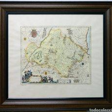 Arte: GRABADO MAPA DEL REINO DE NAVARRA SIGLO XVII. Lote 150465008